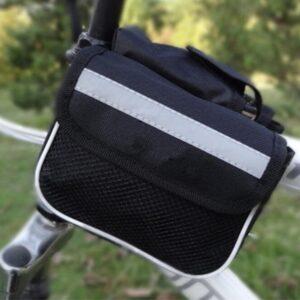 Praktisk svart dubbelsidig cykelväska
