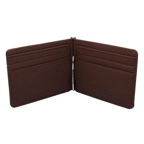 Money Clip / Korthållare - Svart / Mörk Rödbrun