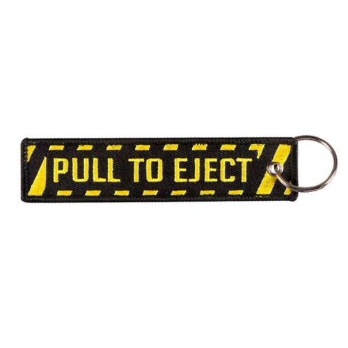 Nyckelring Patch - Pull to eject