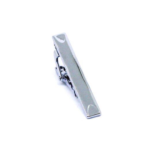 Slipsnål / slipsklämma - Kort modell i silverfärg