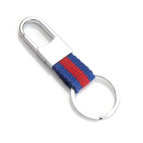 Stilren nyckelring med hake - Kanvas Randig