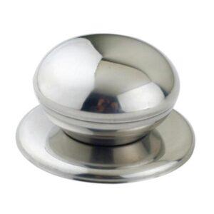 Lockknopp rund silverfärgad