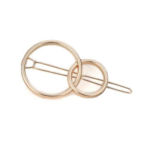 Hårspänne i guldfärg - Ringar