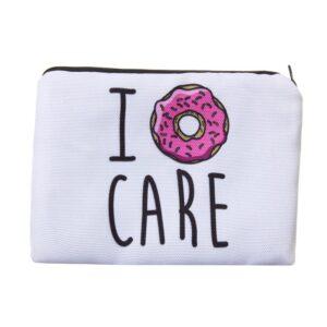 Sminkväska med tryck - I donut care