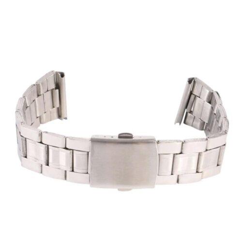 Klockarmband rostfri länk silver