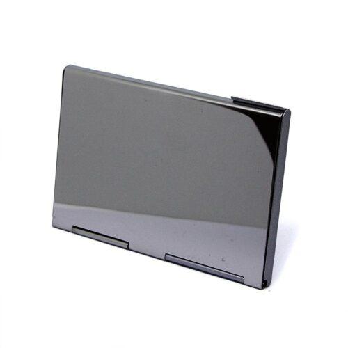 Kortfodral i metall med halvlucka - Silver matt