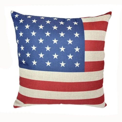 Kuddfodral USA:s flagga 44x44 cm