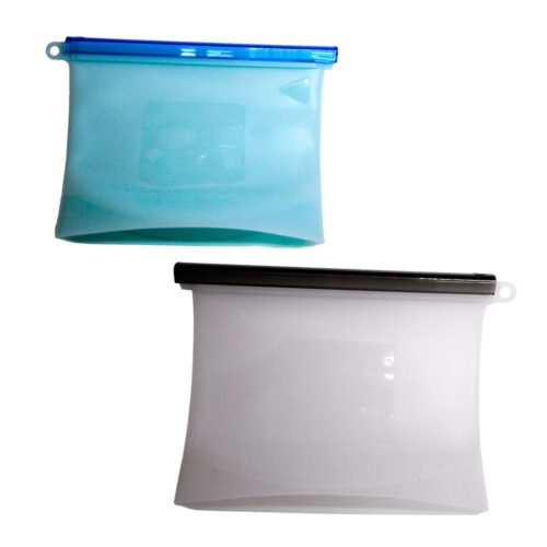Återanvändbara lufttäta silikonpåsar 2 st (1 l + 1,5 l)