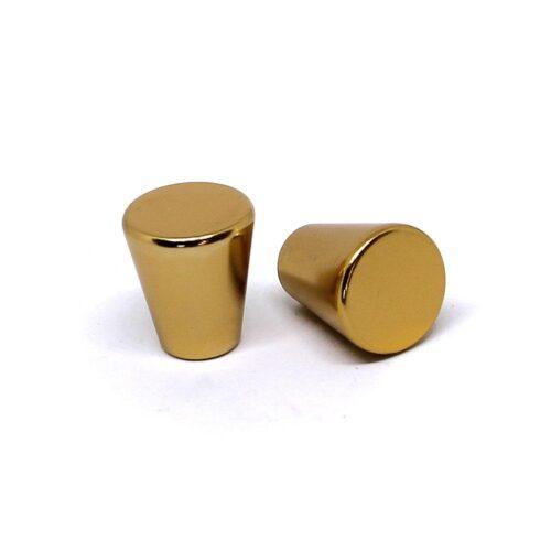 Knoppar 2-pack - Stilren konkav stavknopp - Guld