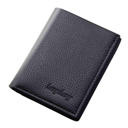 Smidig plånbok i syntetiskt läder - Svart