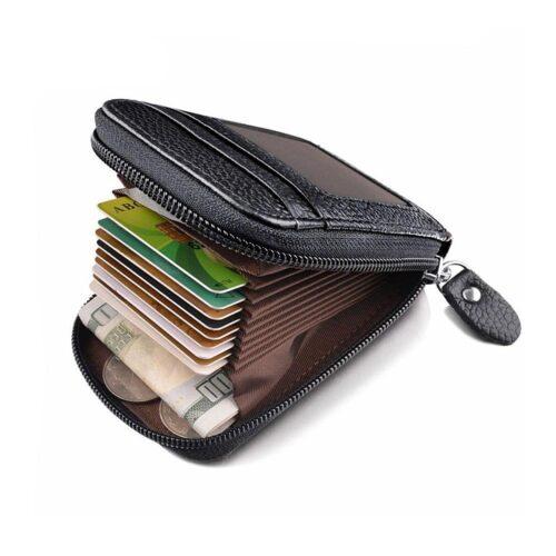 Rymlig kortplånbok med många fack - Svart