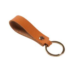 Nyckelring - Läderband i flera färger