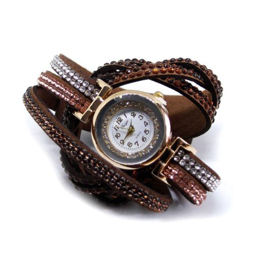 Glittrig damklocka virat armband - Olika färger