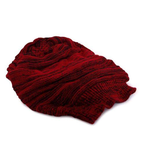Baggy mössa - Röd/Svart
