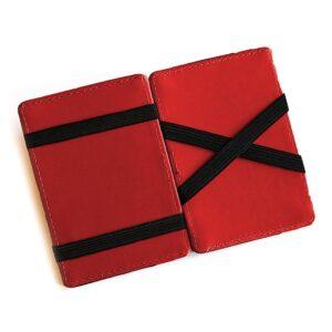 Magic Wallet korthållare i konstläder Svart / Röd