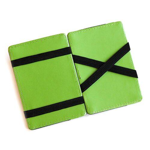 Magic Wallet korthållare i konstläder Svart / Grön