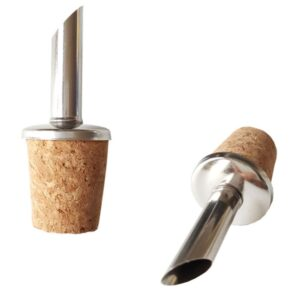 3-pack Droppkork i rostfritt stål och kork