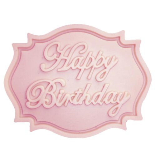 Silikonform för bakning / choklad / is etc - Happy Birthday