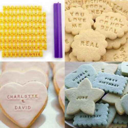 Stämpel till bakning - Bokstäver / Alfabetet