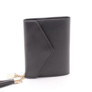 Damplånbok Small Envelope Tassel - Svart