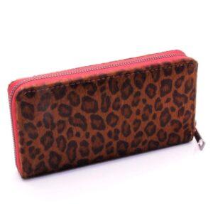 Damplånbok Large Clutch Leopard Dark - Röd