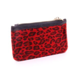 Damplånbok / Börs Coin Purse Soft Leopard - Röd