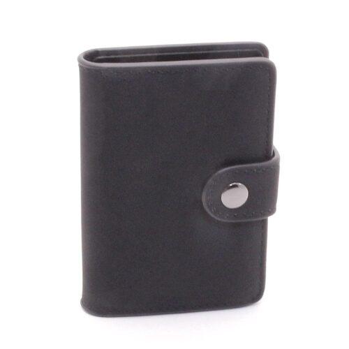 Kortfodral Card Case Fold Out Alu / Leather - Svart