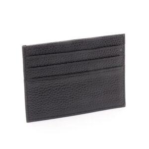 Korthållare Slim Classic Äkta läder - Svart